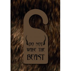 Do Not Wake The Beast - Door Hanger