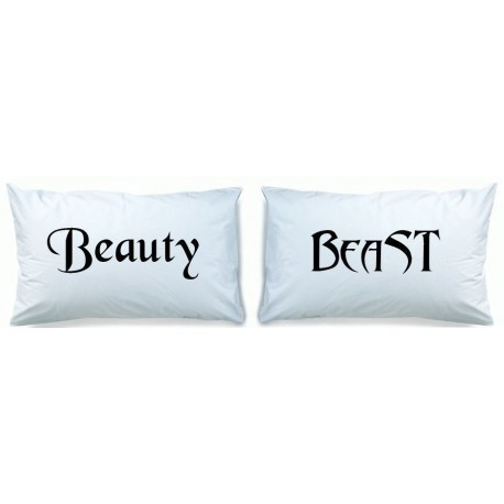 Beauty and Beast Matching Pillow Cases