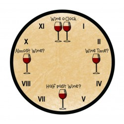 Wine O'Clock - Wall Clock
